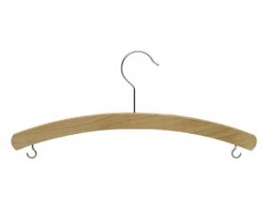 Dřevěné ramínko dětské s háčky - vosk
