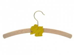 Children`s hanger with an animal motive