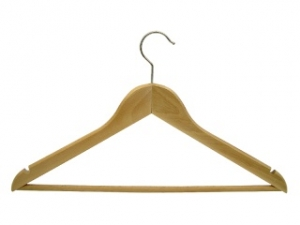 Rounded men`s hanger with a slot