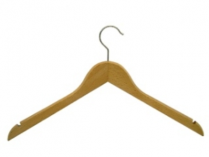 Rounded ladies` hanger with a slot