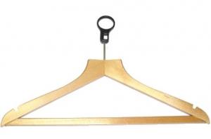 Deluxe hanger model HOTEL with plastic ring