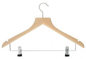 Deluxe hanger with metal clips