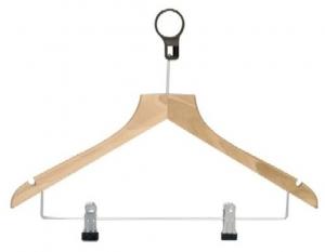 Deluxe hanger with metal clips model HOTEL