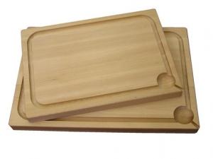 Dřevěné kuchyňské prkénko s jamkou 500x350x40 mm