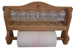 Spice rack with towel rack