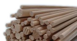 Dřevěné hůlky vroubkované 8 mm