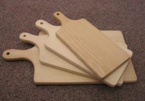 Dřevěné servírovací prkénko cca 350x160x15 mm