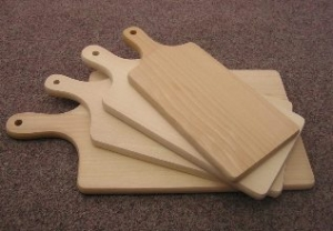 Dřevěné servírovací prkénko cca 430x200x15 mm