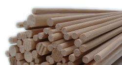 Dřevěné hůlky hladké 9 mm