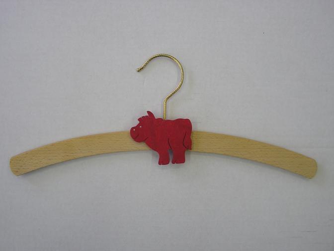 Dřevěné ramínko dětské se zvířecím motivem