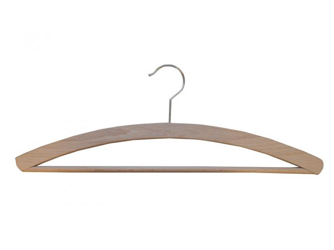 Dřevěné šatní ramínko pánské - lak