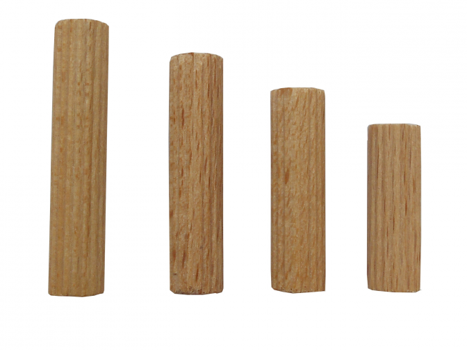 Dřevěné spojovací kolíčky 10x50 mm vr.